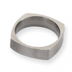 Titanium Square 6mm Satin Wedding Band