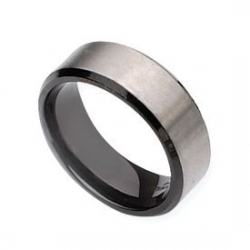 Titanium Black Plated 8mm Brushed Wedding Band