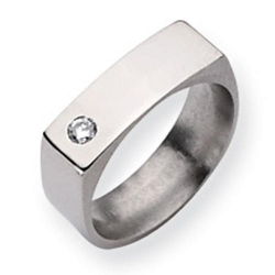 Titanium 6mm Diamond Polished Wedding Band