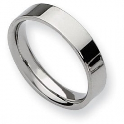 Stainless Steel Flat 5mm Polished Wedding Band