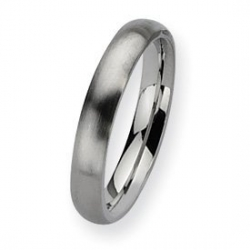 Stainless Steel 4mm Brushed Wedding Band