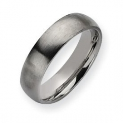 Stainless Steel 6mm Brushed Wedding Band