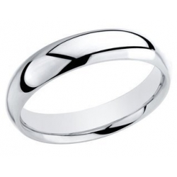 Sterling Silver 5mm Comfort Fit Wedding Band
