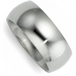 Sterling Silver 9mm Comfort Fit Wedding Band
