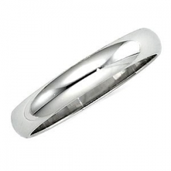 Sterling Silver 3mm Half Round Wedding Band