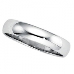 Sterling Silver 4mm Half Round Wedding Band