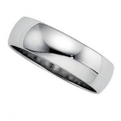 Sterling Silver 5mm Half Round Wedding Band