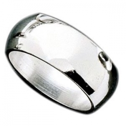 Sterling Silver 7mm Half Round Wedding Band