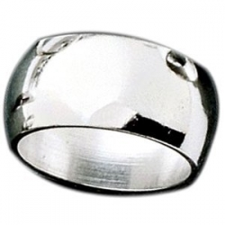 Sterling Silver 9mm Half Round Wedding Band