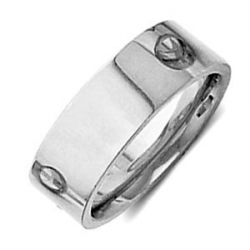 Sterling Silver 6mm Flat Comfort Fit Wedding Band