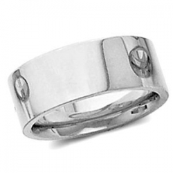 Sterling Silver 7mm Flat Comfort Fit Wedding Band