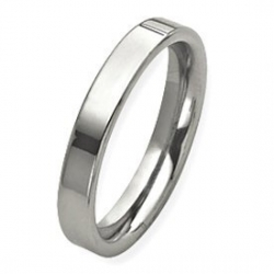 Sterling Silver 4mm Flat  Wedding Band