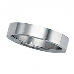 Sterling Silver 4mm Half Round Comfort Fit Flat  Wedding Band