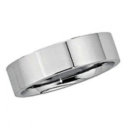 Sterling Silver 7mm Half Round Comfort Fit Flat  Wedding Band