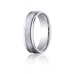 Cobalt Chrome Comfort Fit Ridged Edge 6mm Wedding Band