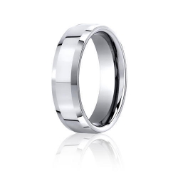 Cobalt Chrome Comfort Fit 7mm Wedding Band