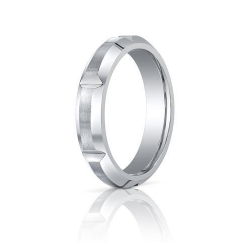 Cobalt Chrome Beveled EdgeComfort Fit 5mm Wedding Band