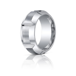 Cobalt Chrome Beveled EdgeComfort Fit 10mm Wedding Band