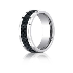 Cobalt Chrome Comfort Fit 8mm Wedding Band