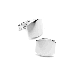 Sterling Silver  Classic  Engraveable Cufflinks