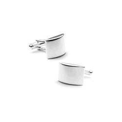 Sterling Silver  Curved  Engraveable Cufflinks
