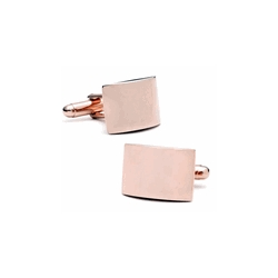 Rose Gold Tone   Curved  Engraveable Cufflinks