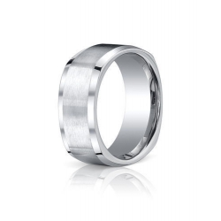 Cobalt Chrome Comfort Fit w  Brushed Inlay 9mm Wedding Band