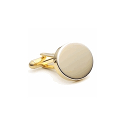 Gold Tone  Oval  Engraveable Cufflinks