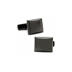 Gunmetal  Rectagular  Engraveable Cufflinks