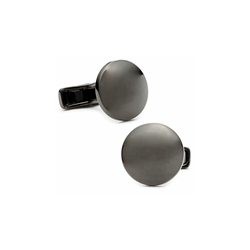 Gunmetal  Round  Engraveable Cufflinks