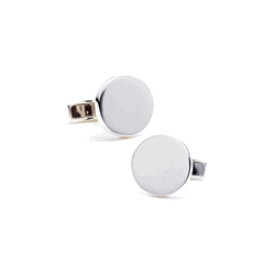 Sterling Silver Round  Infinity Edge  Engraveable Cufflinks