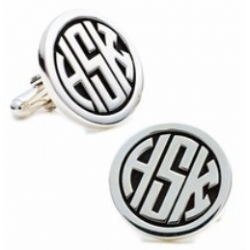 Sterling Silver Personalized  Signet  Engraveable Cufflinks