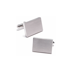 Titanium Rectangular Engraveable Cufflinks