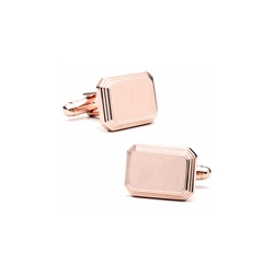 Gold Tone  Rectangular  Engraveable Cufflinks
