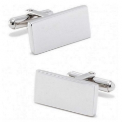 Stainless Steel  Engraveable  Bar  Cufflinks