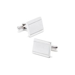 Stainless Steel  Engraveable  Frame  Cufflinks