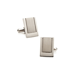Stainless Steel  Engraveable  Wedge  Cufflinks