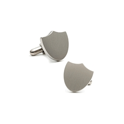 Titanium  Shield  Engraveable Cufflinks