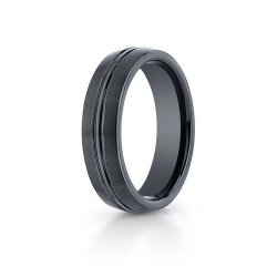 Black Ceramic  Seranite  6mm Wedding Band
