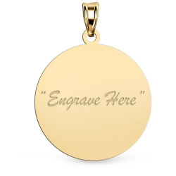 14K Yellow Gold Round Pendant