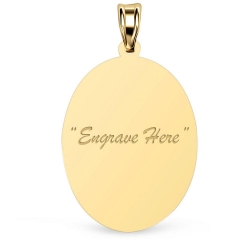 14K Yellow Gold Oval Pendant