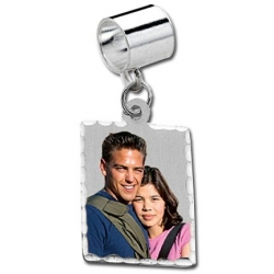 Sterling Silver Petite Rectangle Pandora Style Picture Charm