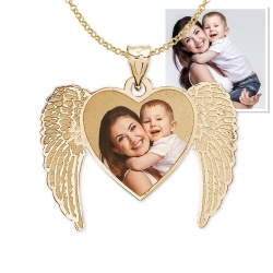 NEW  Angel Heart Picture Pendant