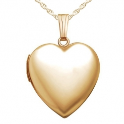 GOLD FILLED Plain Heart Locket