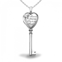Sterling Silver  Key to Heart  Locket