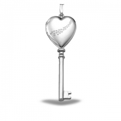 Sterling Silver  Cascade of Hearts  Heart KEY Locket