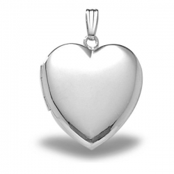 Sterling Silver Large  Heart Locket