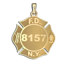 Personalized New York City Fire Dept  Badge