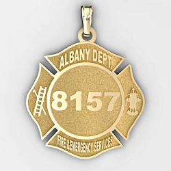 Personalized Albany Dept  of Fire and Emergency Services Badge