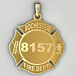 Personalized Rochester Fire Department Badge
